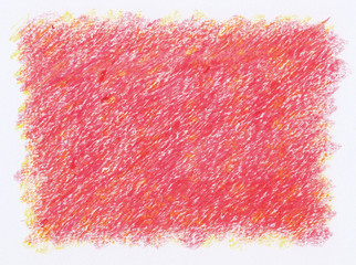 intense vivid red crayon textures background