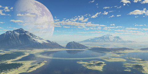 paisaje extraterrestre