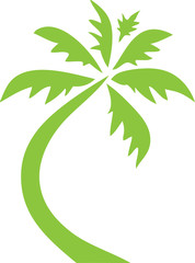 Palm Tree Clip Art Green