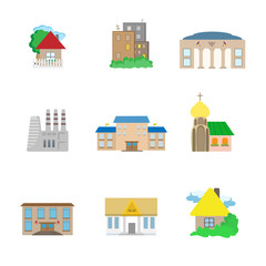 Flat Architecture icons