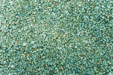 Background of gravel green and blue.