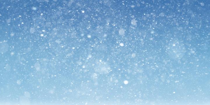 Snow scene background
