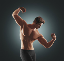 Uomo muscoloso render fitness 3D