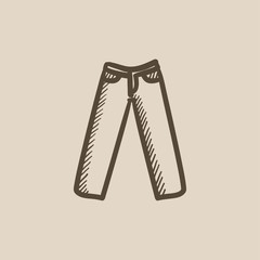 Trousers sketch icon.