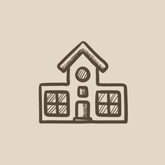 Building sketch icon.