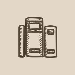 Books sketch icon.