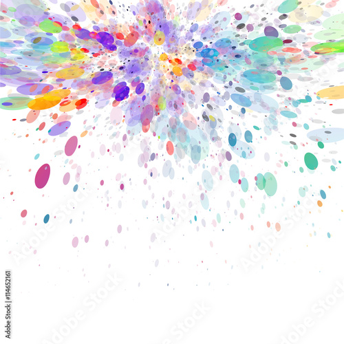 abstract color splash vector background stock image and royalty