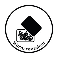Icon of worm container