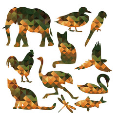 the geometric animal shape design