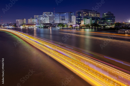 Long Exposure Photography Of Siriraj Hostipal And Lighting Of Bo