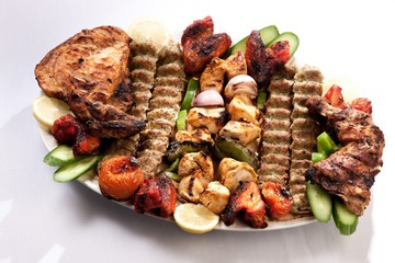 Plate of roasted meat