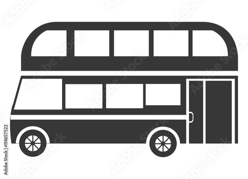 quotblack british bus side view over isolated background
