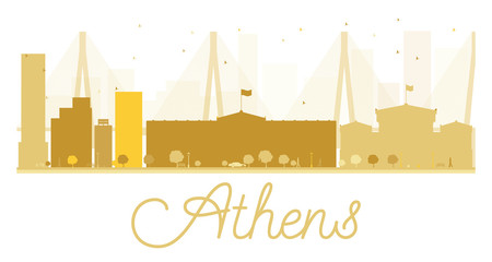 Athens City skyline golden silhouette.