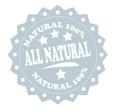 All natural - natural 100 percent stamp