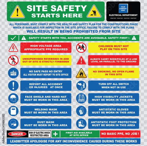 site safety starts here or site safety electrical sign template – Site Safety Plan Template Free