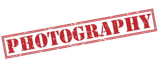 photography red stamp on white background