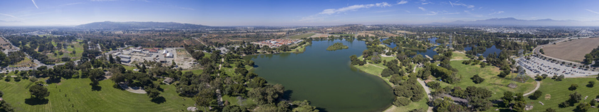 Aerial view of Whittier Narrows Recreation