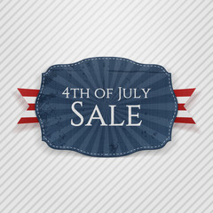 Fourth of July Sale Holiday Tag