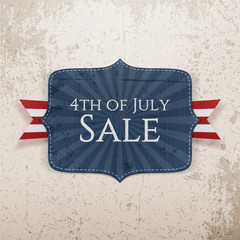 Fourth of July Sale realistic Tag