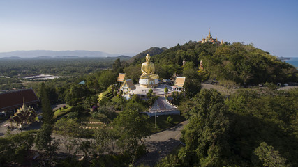 aerial view of ban kood important religion destination in pracha