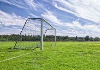 Soccer Goal on Soccer Pitch