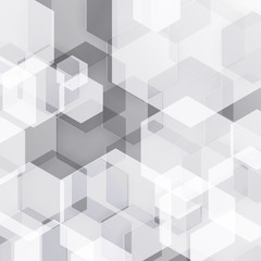 Abstract black and white hexagonal geometric background
