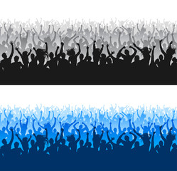 High Quality Cheering Crowd Silhouettes seamless texture