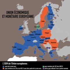 EUROPE - Union Economique et Monétaire - UE