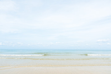 Wall Mural - Exotic beach with gentle wave