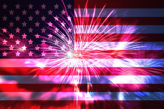America Independence Day Fireworks