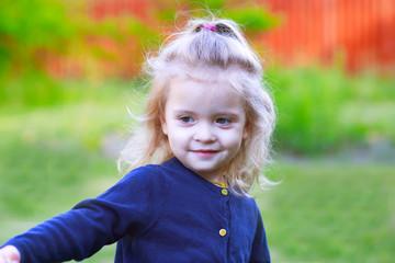 Girl child smiling