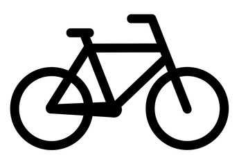 Bicycle icon on white background. Vector illustration eps 10