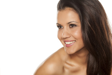 beautiful young happy woman