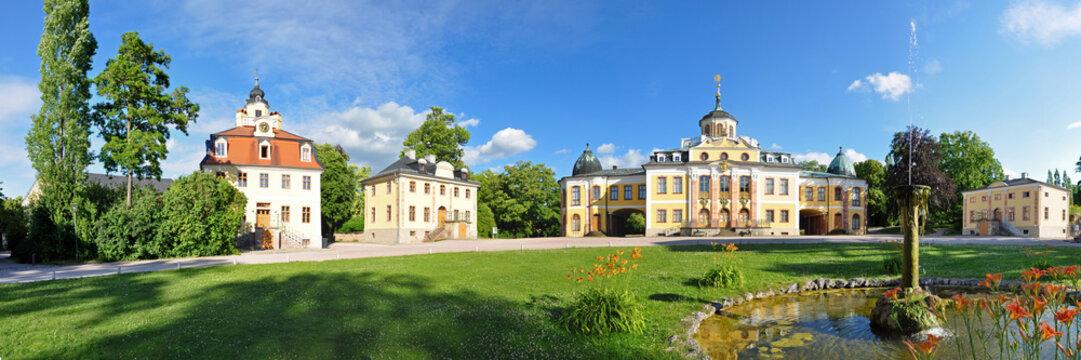 Panoramafoto Schloss Belvedere bei Weimar