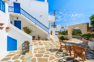 Beautiful Greek style holiday apartments in Naoussa village, Paros island, Cyclades, Greece