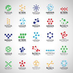 Network Icons Set - Isolated On Gray Background - Vector Illustration, Graphic Design. For Web, Websites,Apps, Print, Presentation Templates, Mobile Applications And Promotional Materials