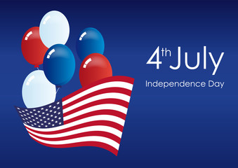 America Independence Day. Independence Day USA. Festive vector illustration. America Independence Day. Important day