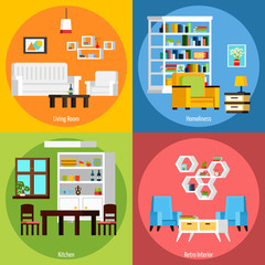Room Interior 2x2 Compositions