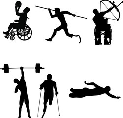 Disable Handicap Sport silhouette
