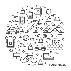 Line round concept for triathlon