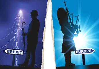 Anglais - Ecossais - Brexit - Déchirure