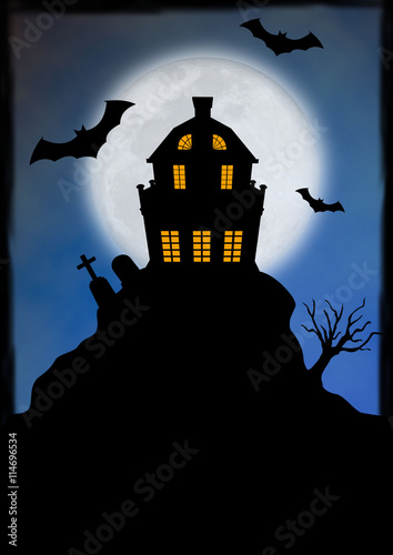 halloween colline maison hant e stock photo and royalty free images on pic. Black Bedroom Furniture Sets. Home Design Ideas