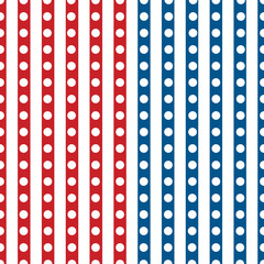 Happy Independence Day seamless pattern vector.