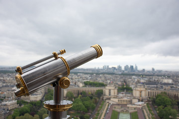 The viewpoint in the Eiffel Tower in Paris, France