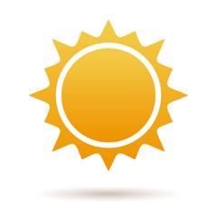 Cute cartoon illustration of the sun isolated on white background. Sun burst star logo icon. Sun star, summer, nature. Sunshine sun logo. Sun icon. Sun logo. Star sun silhouette. Sun vector logo