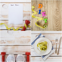 Healthy lifestyle theme collage