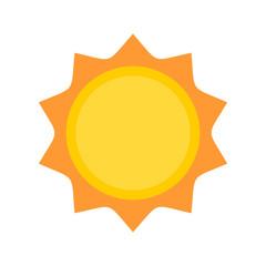 Sun logo icon. Vector illustration isolated on white background