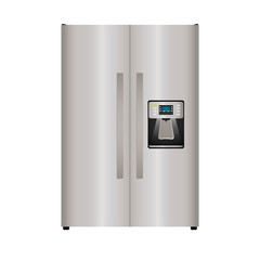 Kitchen and Cooking concept represented by fridge icon. isolated and flat illustration