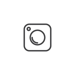 Social Media Icon, photo camera instagram icons