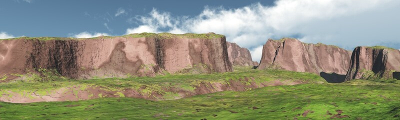 panorama of the canyon, mountain landscape